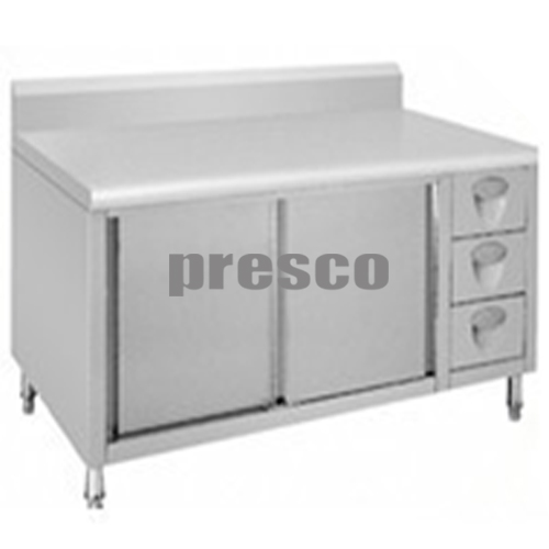 SMK 40 meja kompor dengan laci samping dan lemari
